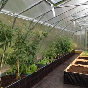 Växthus 105 m² kanalplast